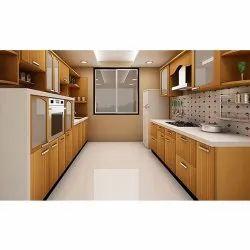 U Shaped Plywood Modular Kitchen
