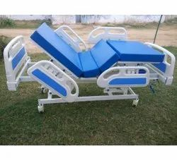 Blue And White Manual ICU Bed, Mild Steel