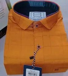 Spitzer Cotton Men's Full Sleeve Check Shirt