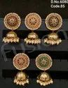 Traditional Pearl Polki Jhumka Earring