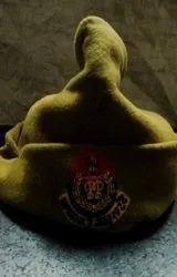 KHAKI POLICE CAP WOOLEN