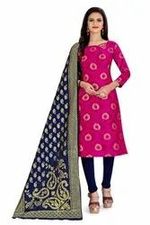 Ladies Banarasi Silk Dress Material