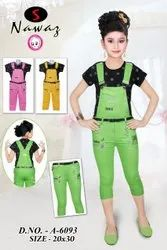 Kids Girl Dangri Set