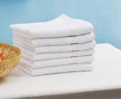 Star Plain Hand Towels Set 2 Pieces 150 GSM Cotton Face Towel Set - White, Recatangle, Size: 16x24 Inches
