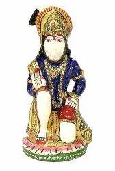 Resin Handicrafts Enamel Work Hanuman Ji Statue Religious Indian Hindu God Idol Figurine
