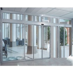 Sliding Plain Automatic Sensor Glass Door, For Office