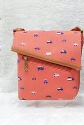 DY Cotton Designer Ikkat Printed Sling Bag, For Casual Wear