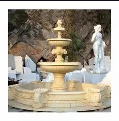 Outdoor Sandstone Fountain