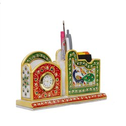 Radhey Shree Desk Decorative Marble Pen Stand, For Home, Size/dimension: 4 Inch