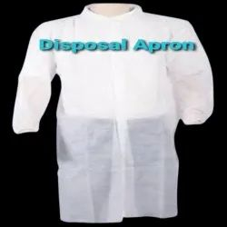 White Plain Disposable Aprons, For Safety & Protection, Size: S-L