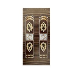 Brown Solid Wood Laminated Hinged Door