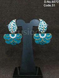 Antique Meenakari Indian Bridal Earrings