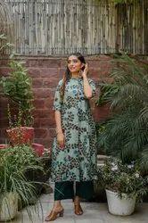 Dehmi 3/4th Sleeve Casual Wear Rayon Ladies Kurtis, Size: S To XXL, Wash Care: Machine wash