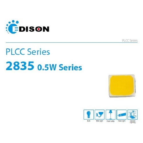 EDISION LED PLCC 2835 0.5W WARM WHITEEDI-3000K