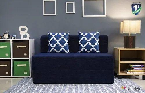 EPE Foam Chenille Sofa Cum Bed 4x6