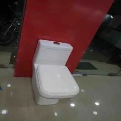 White Open Front Parryware Ceramic Western Toilet