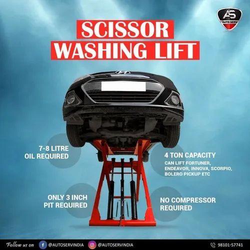 PSL800 Portable Car Washing Scissor Lift