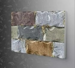 Multicolor Ceramic Glossy Elevation Outdoor Wall Tile, Thickness: 5-10 mm