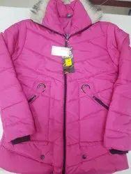 Full Sleeve Pink Ladies Jacket With Hoodie