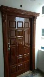 Brown Wood Polish Home Wooden Door, Size/Dimension: 36x78 Inch