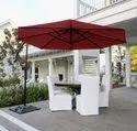 Side pole patio umbrellas