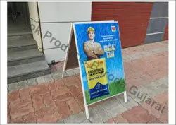24 Inch X 32 Inch Advertising Promotional Tin Plate Stand
