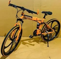 Orange BMW Foldable Cycle