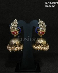 Meenakari Peacock Earrings