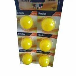 0.5 Watt Finolex LED Bulb, Base Type: B22 - White, Blue, Yellow, Green , Red
