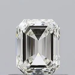 Emerald Diamond 0.60 K VVS1 GIA Certified NATURAL Emerald Cut Diamond