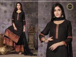 Awesome Black Sharara Suit