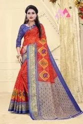 Fancy Cotton linen ladies Indian Wear Saree