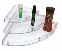 PURE FLOW Wall Mounted ABS Corner Shelf Set, For Bathroom, 3