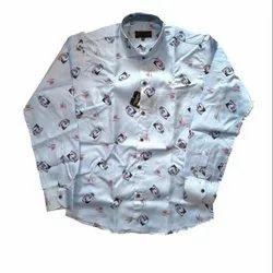 SDG Men Party Wear Printed Cotton Shirt