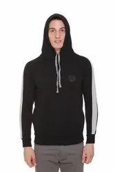 HARBORNBAY Men Fleece Hooded Sweatshirt Black