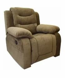 Brown Metal (Frame) Recliner Sofa Chair, For Home, Seating Capacity: Single