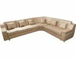 L Shape Leather Corner Sofa Set