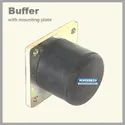 Heavy Duty Crane Rubber Buffer With Mounting Plate