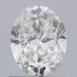 Oval 0.80ct H SI2 Natural HPHT IGI Certified Natural Diamond