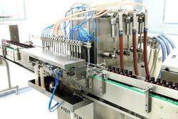 Mechanical Stainless Steel Automatic Liquid Syrup Filling Machine, 415watt, Capacity: 25 To 40bpm