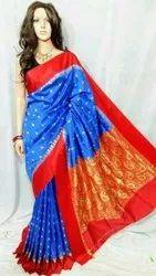 Party Wear TRT 6M Kanjivaram Silk Saree, Dry clean, 6 m (with blouse piece)