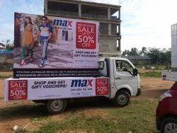 Banner Flex Mobile Vans Advertisement Services, For Brand Promotion, Btl
