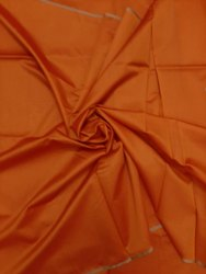 She Fashion Orange Plain Manipuri Silk Fabric, For Clothing