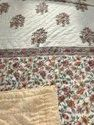 Cotton Hand Made Summer Quilt Indian Block Print Queen Size Pink Reversible Jaipuri Rajai