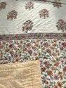 Cotton Hand Made Summer Quilt Indian Block Print Queen Size Pink Reversible Jaipuri Rajai