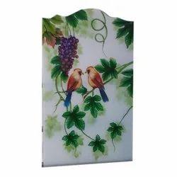 Bird Print Glass Sheet, For Home,Window, Thickness: 5 Mm