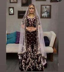 Designer Party Wear Velvet Lehenga Choli