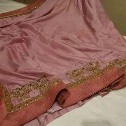 Indian Ethnic Designer Pure Crape Silk Party Wear Saree