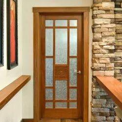 Designer Wooden Double Jali Door, For Home