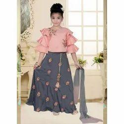 Embroidered Girls Wedding Wear Ghagra Choli, Size: 24-38